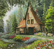 Toadstool Cottage (Crop) - Cross Stitch Chart