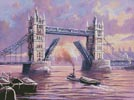Tower Bridge Painting - Cross Stitch Chart