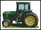 Tractor - Cross Stitch Chart