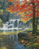 Tranquil Falls (Crop) - Cross Stitch Chart