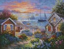 Tranquil Seafront - Cross Stitch Chart