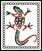 Tribal Lizard - Cross Stitch Chart