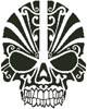 Tribal Skull Silhouette - Cross Stitch Chart