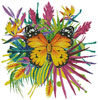 Tropical Butterfly - Cross Stitch Chart