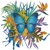 Tropical Butterfly 2 - Cross Stitch Chart