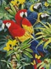 Tropical Macaws - Cross Stitch Chart