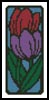 Tulip Bookmark - Cross Stitch Chart