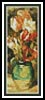 Tulips in a Vase Bookmark - Cross Stitch Chart