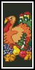 Turkey Bookmark - Cross Stitch Chart