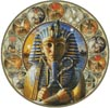 Tutankhamun Circle - Cross Stitch Chart