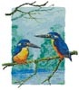 Two Azure Kingfishers - Cross Stitch Chart