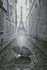 Umbrella in Paris (Black and White) - Cross Stitch Chart