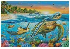 Underwater Turtles (Large) - Cross Stitch Chart