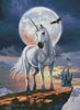 Unicorn in Moonlight - Cross Stitch Chart
