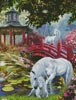 Unicorn Summer House (Crop) - Cross Stitch Chart