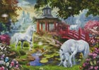 Unicorn Summer House (Large) - Cross Stitch Chart