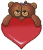 Valentine Bears - Cross Stitch Chart