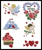 Valentine Motifs - Cross Stitch Chart