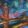 Van Gogh Never Saw Golden Gate (Large) - Cross Stitch Chart