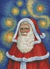 Van Gogh Santa - Cross Stitch Chart