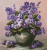 Vase of Violets - Cross Stitch Chart