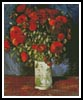 Vase with Red Poppies - Cross Stitch Chart