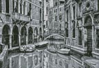 Venice Canal Black and White - Cross Stitch Chart