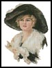 Victorian Black Hat - Cross Stitch Chart