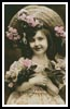 Victorian Girl and Roses - Cross Stitch Chart