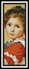 Victorian Girl Bookmark - Cross Stitch Chart