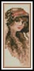 Victorian Lady Bookmark - Cross Stitch Chart