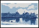 View of Delft Blue - Cross Stitch Chart
