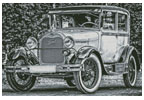 Vintage Ford - Cross Stitch Chart
