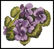 Violets - Cross Stitch Chart