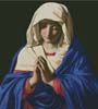 The Virgin in Prayer 2 - Cross Stitch Chart