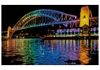 Vivid Sydney Harbour Bridge - Cross Stitch Chart