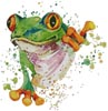 Watercolour Frog - Cross Stitch Chart