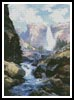Waterfall in Yosemite - Cross Stitch Chart
