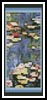 Waterlilies Bookmark - Cross Stitch Chart