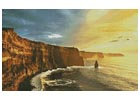 Waves Crashing on Rocky Cliffs - Cross Stitch Chart