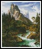 The Wetterhorn with the Reichenbachtal - Cross Stitch Chart