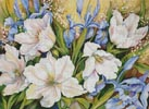 White Tulips and Blue Iris - Cross Stitch Chart