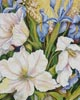White Tulips and Blue Iris (Crop) - Cross Stitch Chart