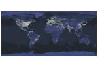 Whole Earth at Night Panorama - Cross Stitch Chart