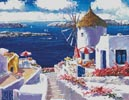 Windmill at Santorini - Cross Stitch Chart