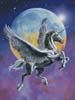 Winged Unicorn in Moonlight - Cross Stitch Chart