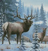 Winter Elk (Crop) - Cross Stitch Chart