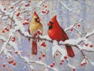 Winter Joy Cardinals - Cross Stitch Chart