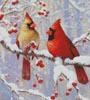 Winter Joy Cardinals (Crop) - Cross Stitch Chart