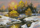 Winter Landscape Painting - Cross Stitch Chart